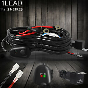 Suv Atv Wiring Harness Led Light Bar Strobe Switch On Off 40a Relay Fuse Kit Us