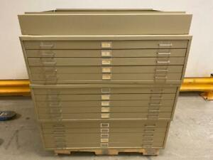 3 safco 5 Drawer 15 50x38x2 Blueprint File Cabinet Architectural Flat Files Art