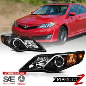 Sport Pkg Style Black For 2012 2014 Toyota Camry Projector Headlights Assembly