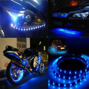 Blue Led Light Strip 300 Smd 3528 5m Roll 12v Rope Light Adhesive Back Ip67