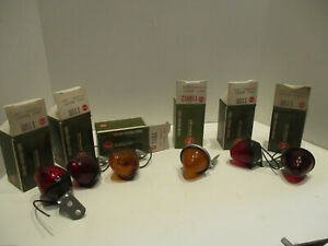 Lot Of 6 Vintage Petersen 110 Clearance Lights Auto Truck Trailer