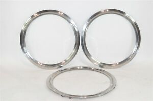 16 Inch Wheel Trim Rings Lot Of 3 Stainless Steel 1960s To 1970s Ford