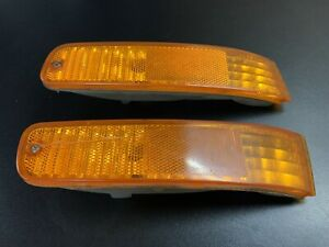 92 96 Oem Honda Prelude Turn Signal Corner Marker Light Housing Amber Pair