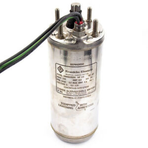 Franklin Electric 2445039004 Deep Well Submersible Pump Motor 1 3 Hp 4 230v
