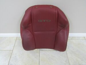2004 2006 Gto Front Seat Upper Leather Cover Red Rh Passenger H1