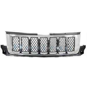 11 13 Gr Cherokee Front Grill Grille Assembly Chrome W Black Insert 57010708ad