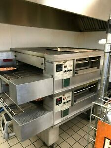 Dominos Pizza Middleby Marshall Ps555g Double Deck Conveyor Pizza Oven
