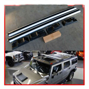 For 03 09 Hummer H2 Oe Style Silver Roof Rack Cross Bars Set Luggage Carrier