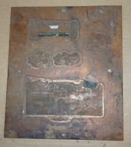 Vtg 1965 Copper Ford Pickup Truck Printing Plate Ad Antique Printing Block Ad 3