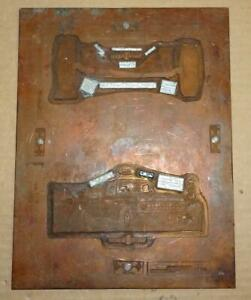 Vtg 1965 Copper Ford Pickup Truck Printing Plate Ad Antique Printing Block Ad 4