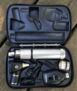 Welch Allyn Otoscope 25020 Ophthalmoscope 11720 3 5 V Diagnostic Set Vg
