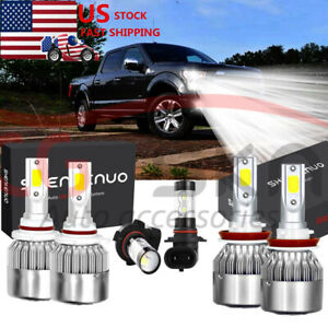 6x Combo 9145 H11 9005 Led Headlight Bulbs Kit For 2015 2016 2017 Ford F 150