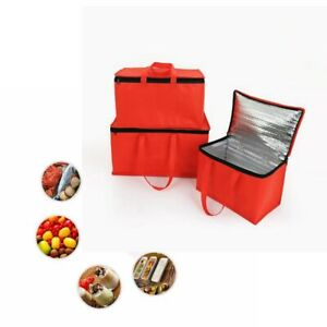 Delivery Bag Pizza Food Insulated Thermal Storage Holder Outdoor Picnic 15