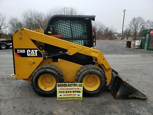 2015 Cat 236d Cab Skidloader Only 650 Hours Full Cab W heat And Ac Nice