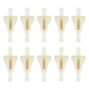 10pcs 1 4 6 7mm Universal Clear Hose Inline Gas Oil Fuel Filter Small Engine