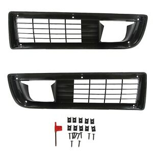 New Pair Bumper Grille Set Fitting Kit For 1979 1981 Pontiac Firebird Trans Am