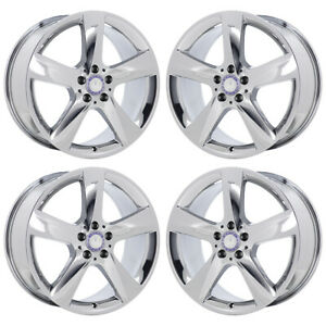 19 Mercedes Gle350 Gle550 Bright Pvd Chrome Wheels Rims Factory Oem Exchange