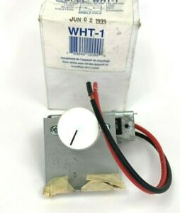 King Thermostat Kit Wht 1 For Whf Series Forced Air Heaters Single Pole Nos