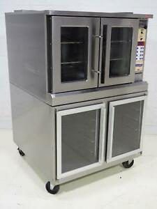 Lang Ec0f Electric Convection Oven Set At 325f W Understorage Sn 13a0019