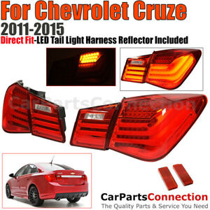 Led Tail Lights For 2011 2015 Chevrolet Cruze Bm Style 4 Door Sedan Brake Lamps