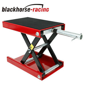 9 Wide Deck Motorcycle Center Scissor Lift Jack Hoist Stand Bikes Atv 1100lb
