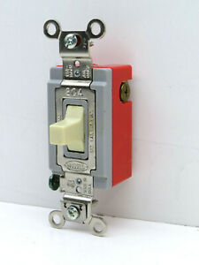 Hubbell Hbl1557i Single Pole Double Throw Toggle Switch 3 position 2 circuit 20a