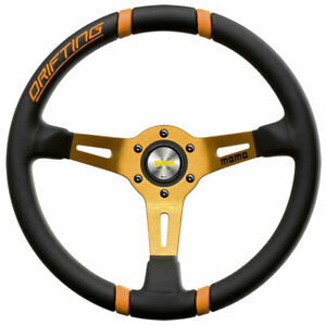 Momo Drifting Tuning Steering Wheel 350mm Leather Vdrift35nearl Orange Original