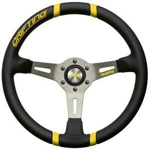 Momo Drifting Tuning Steering Wheel 350mm Leather Vdrift35negil Yellow Original