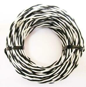 50 Ft Mil Spec 22 Awg M16878 4 bfe 9 0 White Black Twisted Pair Silver Plated