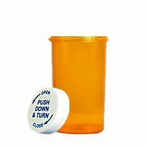 40 Dram Pill Bottles Amber Prescription Vials W child Resistant Caps 200 case