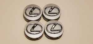 4x Lexus Wheel Rim Rims Center Hub Cap Caps Chrome Logo 62mm All 2006 2019 Lexus