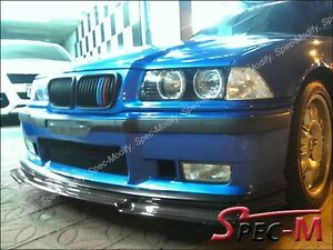 Gtx Style Carbon Fiber Front Bumper Lip Spoiler For 1992 1998 Bmw E36 M3 Only