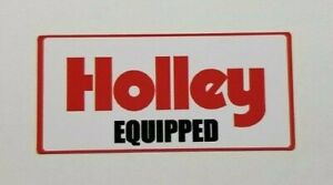 Holley Equipped Decal Sticker Holley Performance Turbo Turbocharged Carburetor