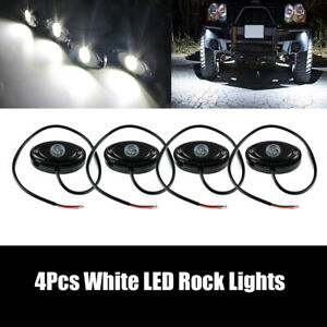 Fits Chevy Silverado Underbody Rock Led Lights White Accent Under Car Neon Glow