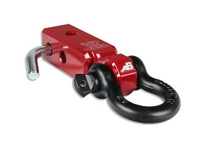 Agency 6 Recovery Shackle Block Assembly 2 Red Hitch Receiver Block