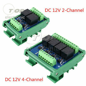 2 4 Channels Optocoupler Lsolation Relay Module 12v Plc Signal Amplifier Board