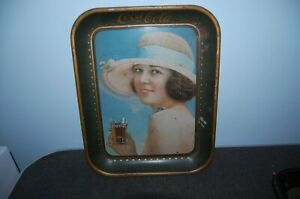 ORIGINAL 1920s COCA COLA TRAY Flapper Girl American Art Works