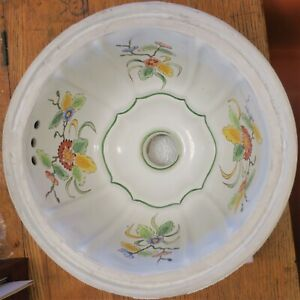 Vintage Sherle Wagner Italian Porcelain Undermount Sink W Hand Painted Flowers