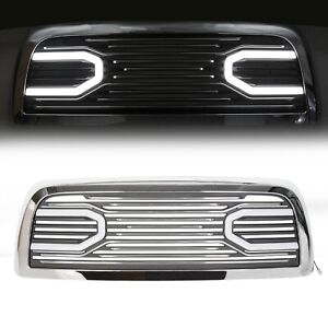 Big Horn Chrome Grille replacement Shell Lights For 10 18 Dodge Ram 2500 3500