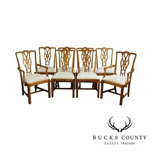 Harden Chippendale Style Solid Cherrywood Set 8 Dining Chairs
