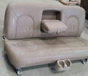 99 Ford F350 Super Duty Rear Row Seat Ytim 8x Tan Leather Lariat Sun Damaged
