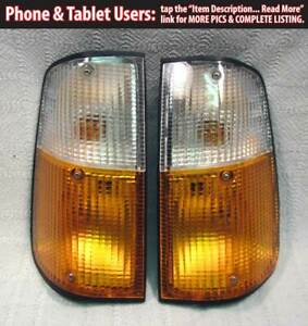 Volvo 240 Turn Signals Pair Euro Clear Amber 242 245 260 75 85 E Code Turbo Ipd