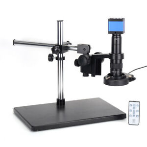34mp Hdmi Usb Digital Industry Inspect Microscope Camera 180x Lens 60led Light