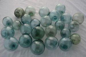 Vintage Japanese Glass Fishing Floats 2 Lot Of 25 Free Shipping