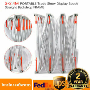10 8ft Trade Show Display Booth Pop Up Stand Kit Exhibits Backdrop Wall Usa