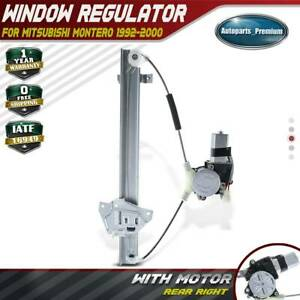 Power Electric Window Regulator With Motor For Mitsubishi Montero 92 00 Rear Right