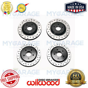 Wilwood Promatrix Front And Rear Rotor Kit For Corvette 97 04 C5 c6 140 9336 d