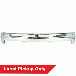New Front Chrome Steel Bumper For 99 02 Silverado Sierra Gm1002376 W o Brackets
