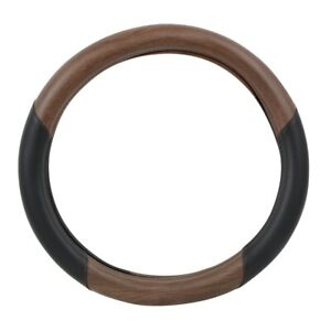 Truck Universal Steering Wheel Cover 18 Inch Matte Natural Dark Wood Black New
