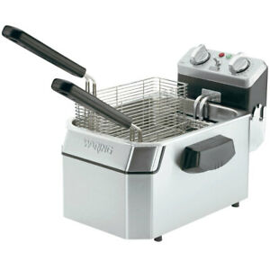 Waring Wdf1000 10lb Electric Countertop Fryer Stainless W Timer 120v